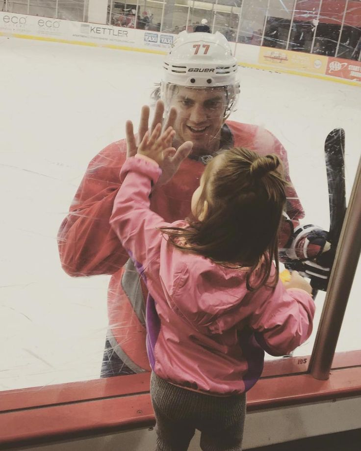 Photo: @loshie17 After suffering a minor injury during practice Wednesday, TJ Oshie's status was unknown heading into Game One. But not only did Oshie take pre-game warm-ups, he made time to say hi to his tiny daughter Lyla, who was standing by the glass. So. Cute. Are the Oshies one of America's cutest families? I…