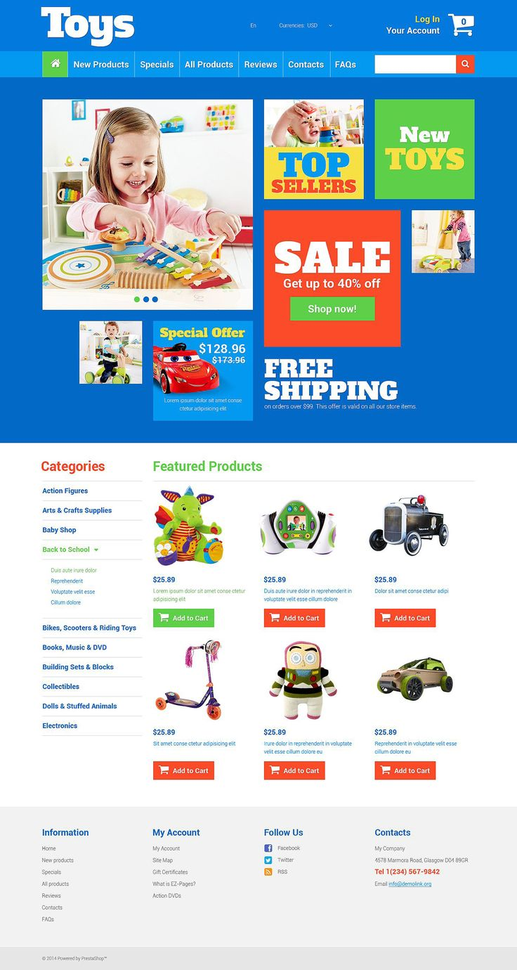 Toy Store #ZenCart #Responsive Template via @medosadvert by @templatemonster  #52432