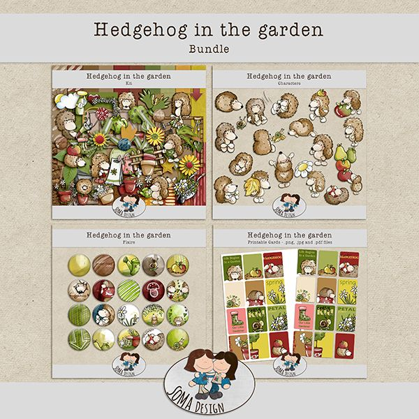 SoMa Design Hedgehog In The Garden Bundle