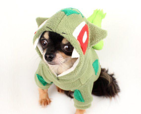 Dog Costume Bulbasaur Dog Costume Halloween Pokemon Dog Hoodie In
