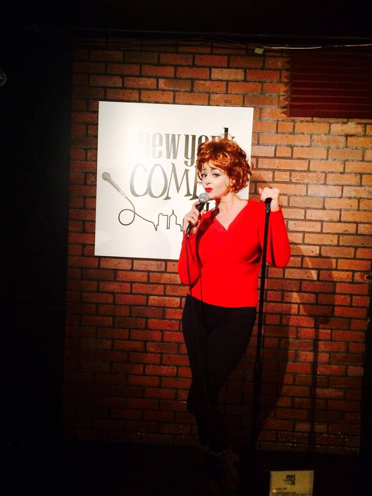 Despina Mirou  as Lucille Ball in N.Y comedy club