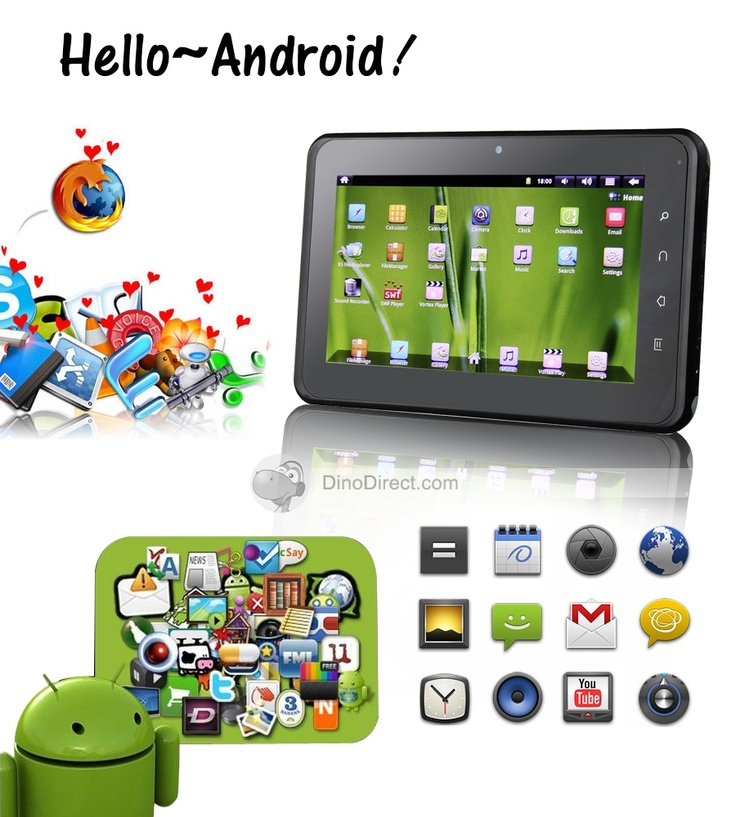 Sungworld™ 7 inch Android 2.3 800*480 TFT LCD 169 512M