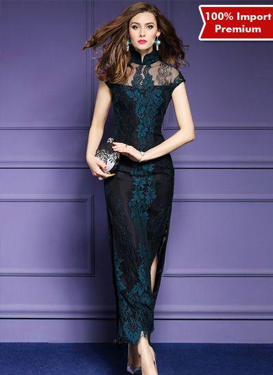 Dress / Baju Cheongsam Brukat Import Premium 2 Pcs 614PR  | shopasista.com | Distributor baju import | distributor baju korea | grosir baju korea | grosir baju import | supplier baju korea tangan pertama | importir baju korea
