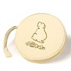 Zippered Style CD Storage Case with Bear Pattern for CD DVD Game Disks (Khaki)