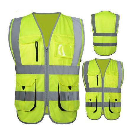 SFvest reflektif visibilitas Tinggi rompi keselamatan reflektif rompi multi kantong workwear keselamatan rompi gratis pengiriman