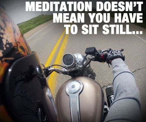 meditation on a motorcycle