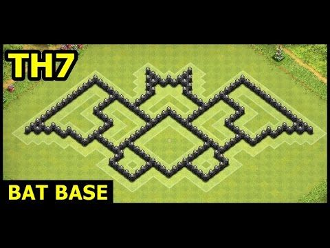 Town Hall 7 Bat Base Clash of Clans | TH7 Batman Base Hybrid Art Design - YouTube