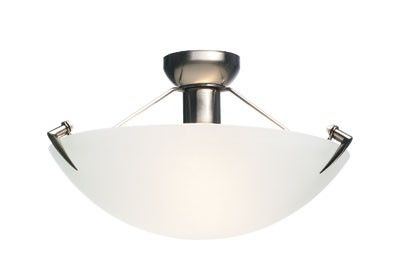 Beacon Lighting - Astro II 30cm round do-it-yourself fitting in brushed chrome with frost glass
