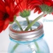 Keep the flowers upright with this mason jar flower lid!