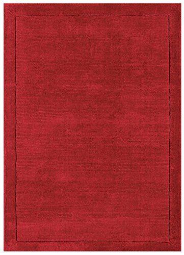 Teppich Wohnzimmer Carpet modernes Design YORK HANDLOOM UNI RUG 100 - wohnzimmer rot orange