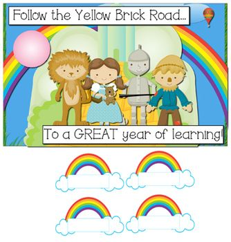 Welcome Back Bulletin Boards | Welcome Back Bulletin Board Display - Wizard of Oz Theme