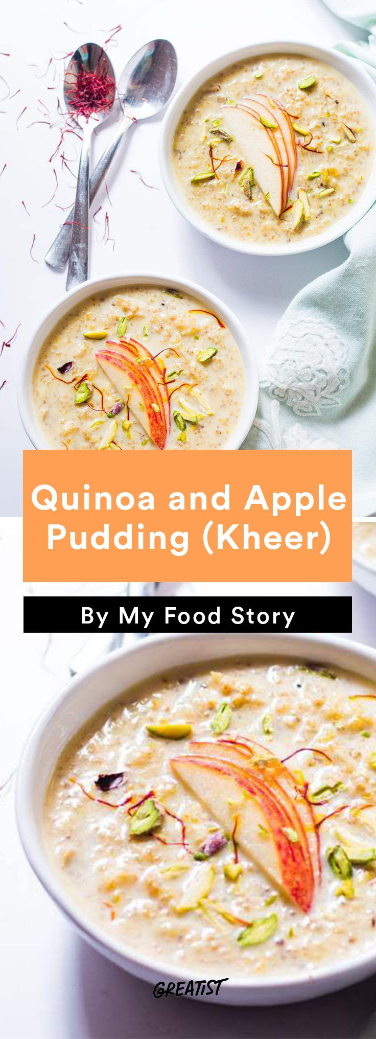 1. Quinoa and Apple Pudding (Kheer) #healthy #indian #food http://greatist.com/eat/indian-recipes-that-are-easy-to-make-at-home