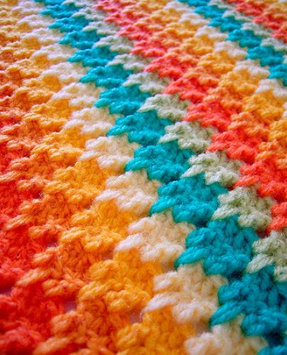 """I know this as the """"icicle stitch"""". Super easy to do, works up fast and looks great!"""