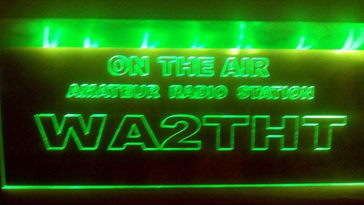 Ham Radio call sign lights from Casting Shadows Engraving Co. #CastingShadowsEngravingco