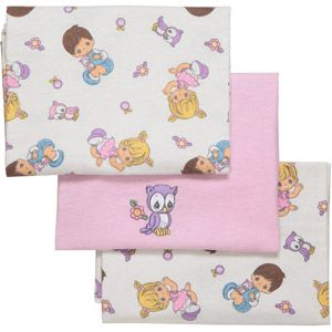 Precious Moments Receiving Blankets, 3-Pack (somebody have a baby girl soon so i can buy u this!)