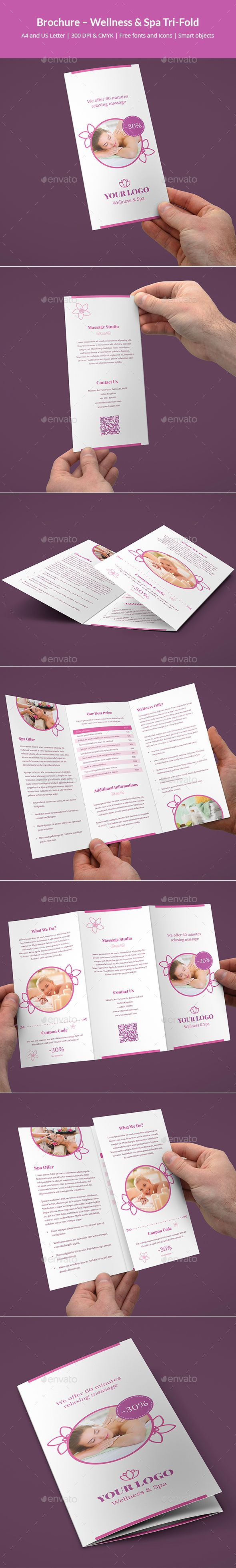 #Brochure – Wellness and Spa Tri-Fold - #Corporate #Brochures Download here: https://graphicriver.net/item/brochure-wellness-and-spa-trifold/19506014?ref=alena994