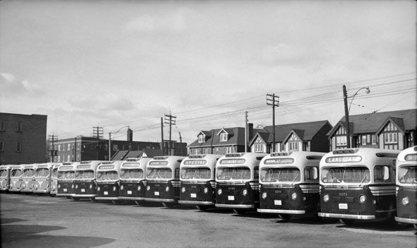 A snapshot of Yonge and Eglinton in the 1950s