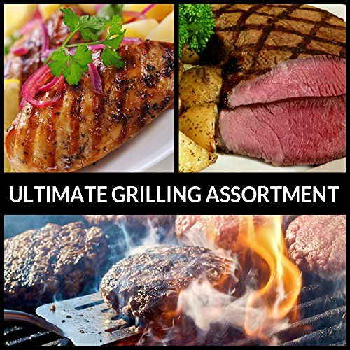 Ultimate Grilling Assortment - Includes Steaks, Burgers, and Chicken - Chicago Steak Company - ASSRT401 Chicago Steak Company http://www.amazon.com/dp/B00KDP2Z6Y/ref=cm_sw_r_pi_dp_M4ljvb0T5YAE3