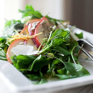 Pear and Arugula Salad The sweetness of the pears complements the peppery arugula in this festive holiday salad.