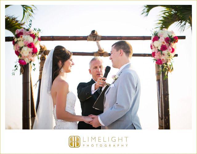 #grandplazaresort #stpetersburg #florida #wedding #weddingphotography #limelightphotography #stepintothelimelight #beach #ocean #sea #sand #sun #palmtrees #ceremony #paradise #bride #groom #arch #flowers #preacher