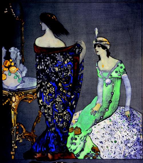 Xavier Gosé: Le manteau bleu, c. 1912