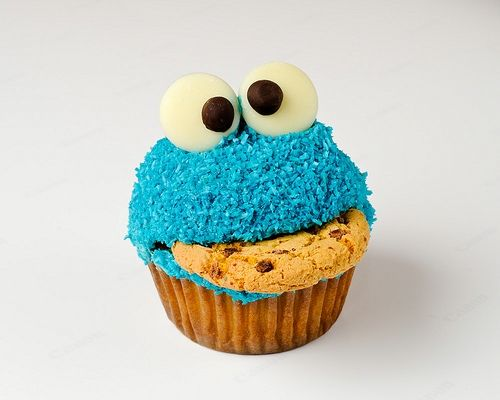 cute: Cookie Monster Cupcakes, 1St Birthday Parties, Cupcake Rosa-Choqu, Cookies Monsters Cupcake, Recipe, Food, Parties Ideas, Monstercupcak, Kid