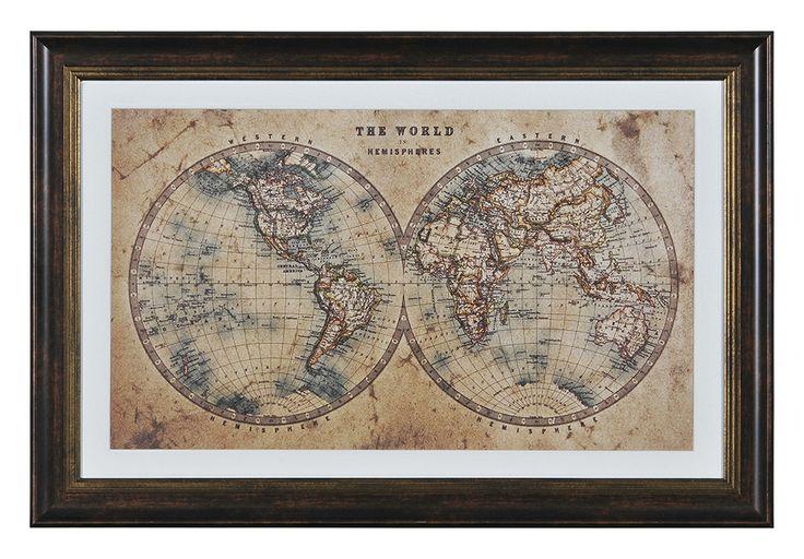""" world Hemispheres""  by Kelly Stevenson 20 X 30 X 1.2"""