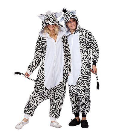 Another great find on #zulily! Zoe the Zebra Costume Jumpsuit - Adult #zulilyfinds