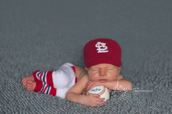 Baby baseball set baseball cap and pants newborn by LandyKnits