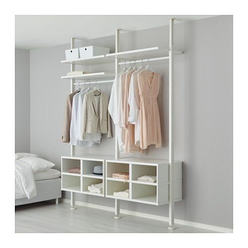 IKEA ELVARLI 2 sections White 175x51x222-350 cm You can always adapt or complete this open storage solution as needed. Maybe the combination we've...