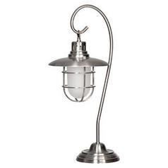 Lanterna Polished Steel Table Lamp