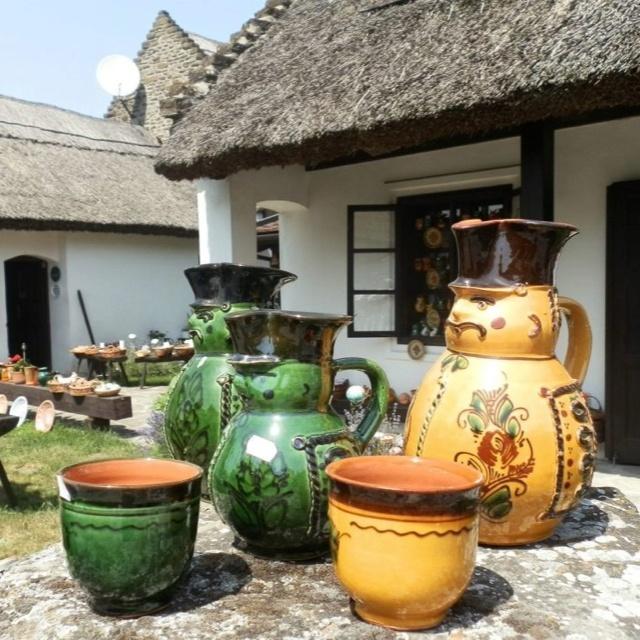"Hungarian country style jugs, known as  ""Miska kancso"" (""Mickey Jugs"")"