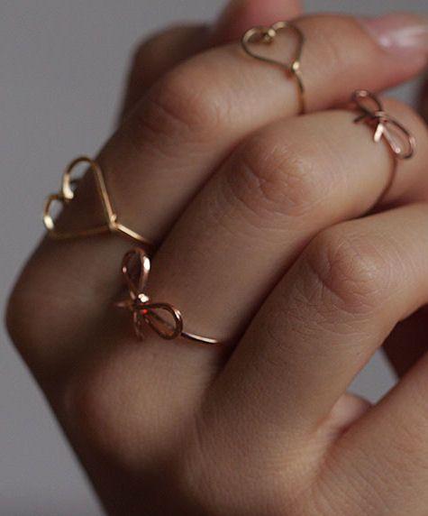 Hearts & Bows Rings ♡