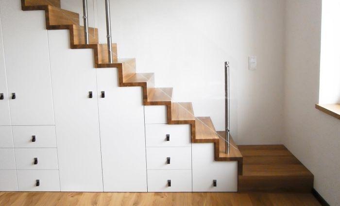 Optimisation De L Espace Avec Rangement Garde Robe Ou Placard Sous Escalier Archzine Fr Understairs Storage Escalier Design Finishing Basement