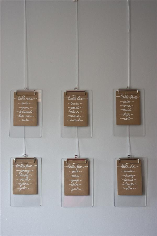diy table plan clipboard