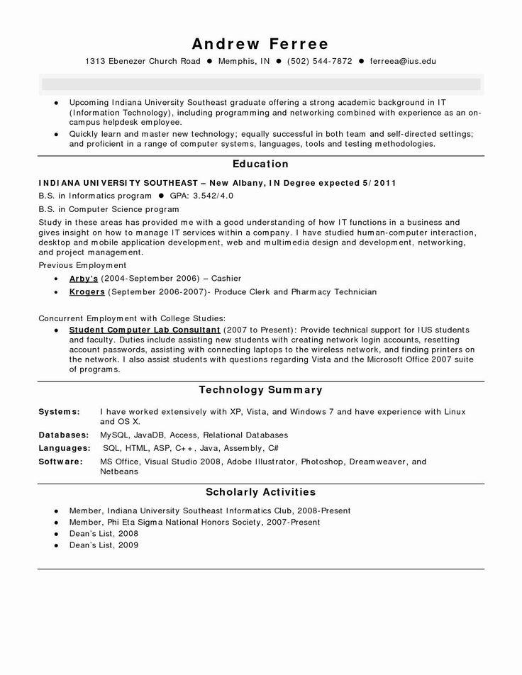 entry level cna resume for hospital