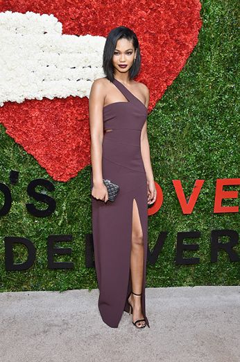 Chanel Iman keeps it simple but glamorous at the Golden Heart Awards