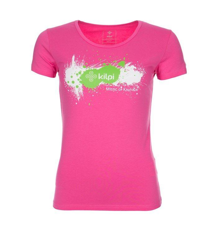 Women's T-shirt KILPI - TYPO - pink