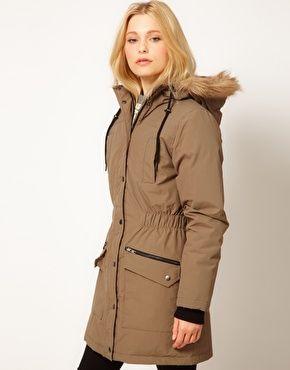 Minimum Parka Jacket With Faux Fur Trim