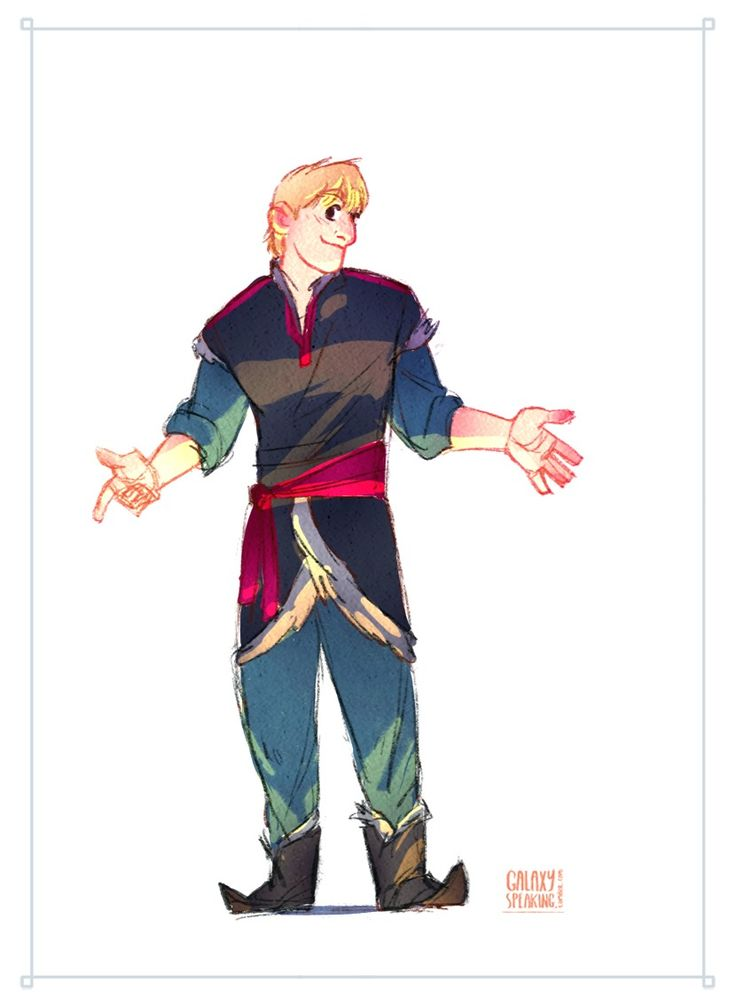how to draw kristoff from frozen full body
