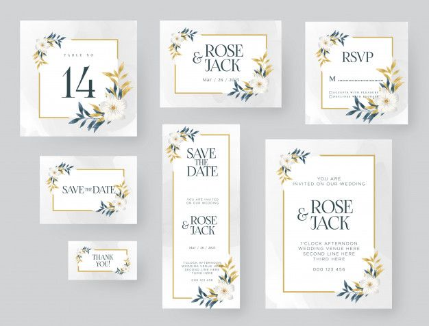 Wedding Invitation Template With Golden Nature Wedding Invitation Templates Invitation Template Wedding Card Templates