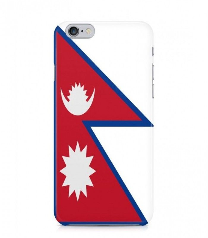 Nepali or Nepalese Flag 3D Iphone Case for Iphone 3G/4/4g/4s/5/5s/6/6s/6s Plus - FLAG-NP-1 - FavCases