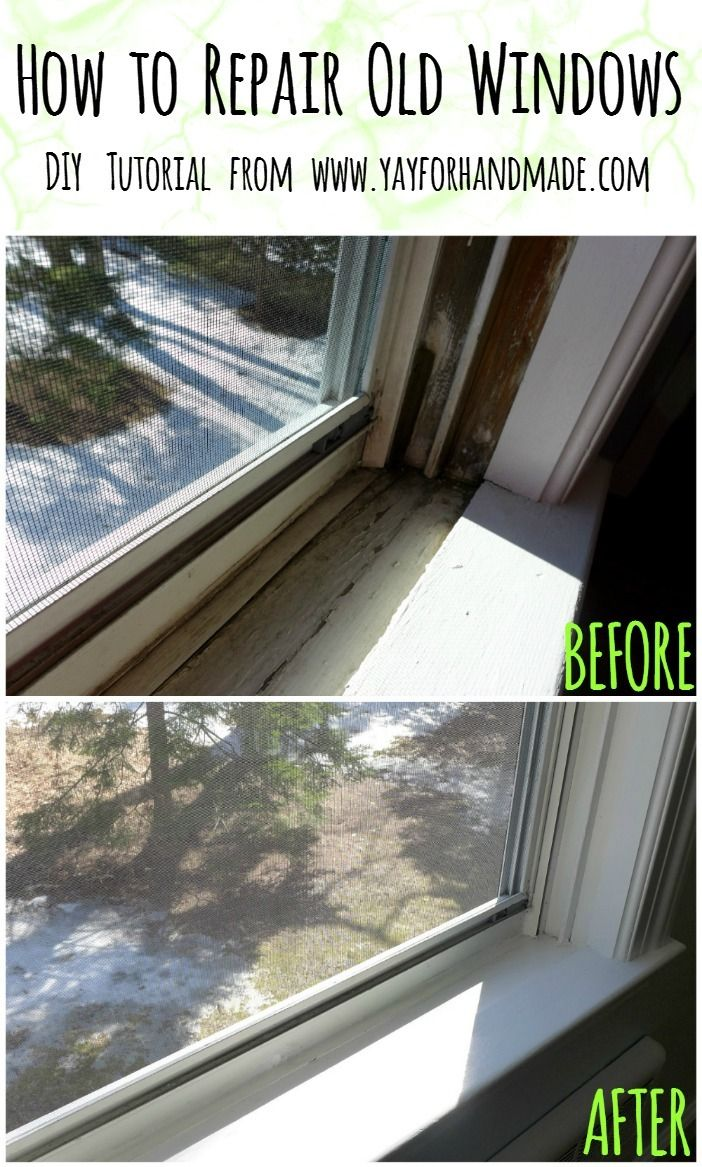 How to Repair Old Windows - DIY step by step tutorial on how to repair old windows! Great home fix-it to give new life to windows, budget solution to refresh windows without replacing. www.yayforhandmade.com