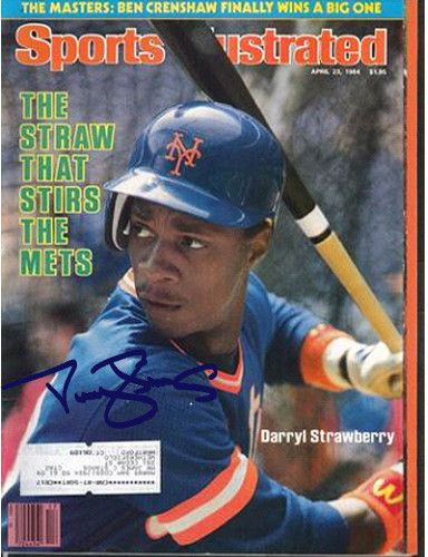 Darryl Strawberry Signed 4/23/84 Sports Illustrated Magazine