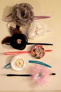 DIY elastic headbands for baby girls