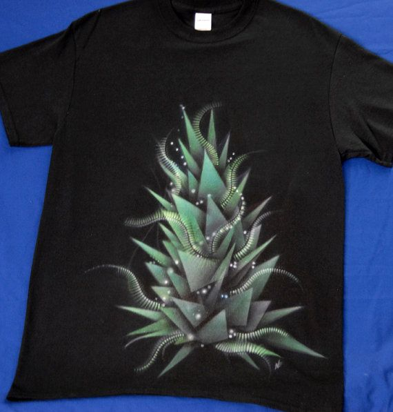 bud_3 abstract geometry hand-painted  t-shirt by NikoxiL on Etsy