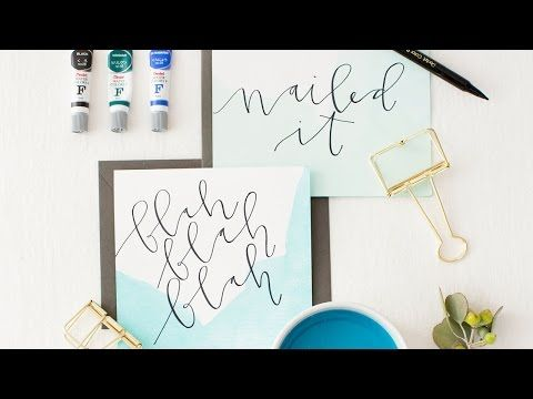 Oh My, Dip Dye! Watercolor Stationery DIY - Paper and Stitch