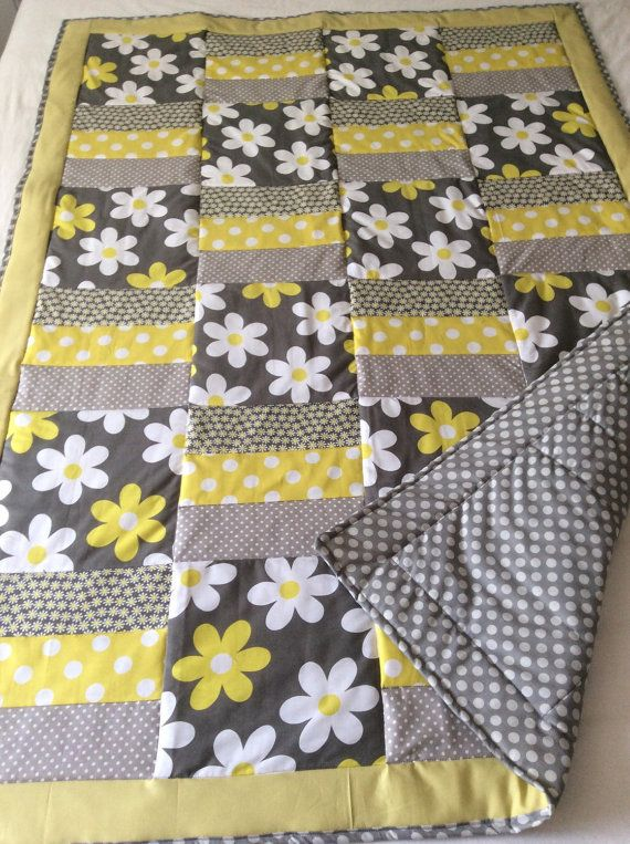 Floral quilt flowers baby blanket baby quilt Michael