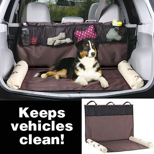 I wonder if this would work in my car if I folded the seats down. It would be a great way to organize my dog's stuff when she travels with me!