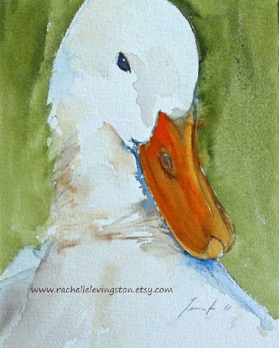 White Duck art PRINT Nursery wall art by rachellelevingston, $16.00